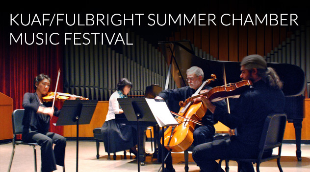 KUAF/Fulbright Summer Chamber Music Festival (photo: Courtesy of the Department of Music)