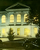 "Vol Waker Hall at night; from the Digital Exhibit ""Fine Lines"""