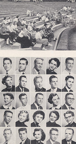 Page from the 1955 Razorback Yearbook, University Archives