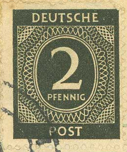 German stamp from one of the envelopes