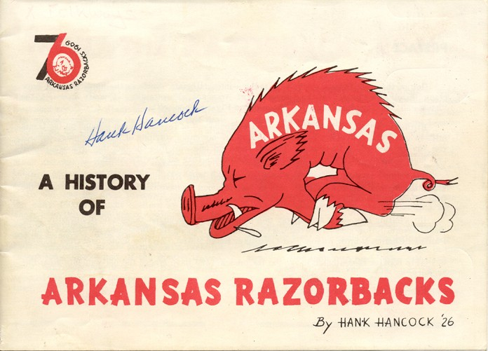 Hancock, Hank. A History of Arkansas Razorbacks. Abilene, TX: The Author, 1976. Arkansas Collection LD236.2 .H36 1976