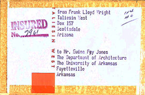 Taliesin Mailing Label