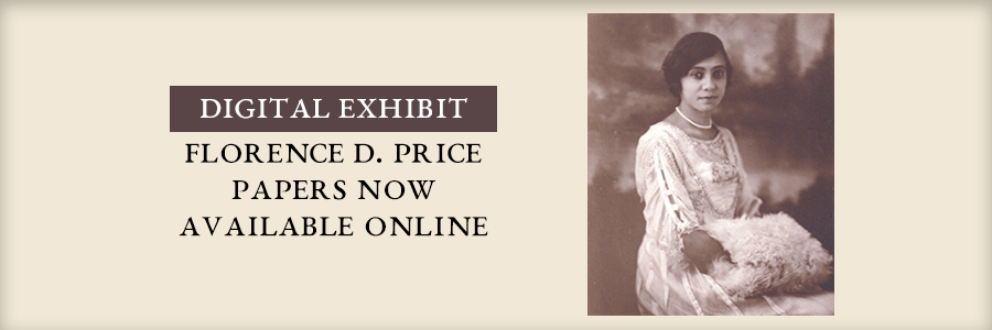 Florence B. Price Papers now available at Mullins Library