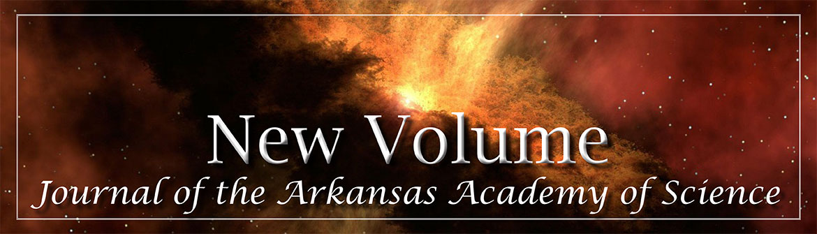 New Volume: Journal of the Arkansas Academy of Science