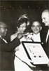 Daisy Bates receiving the Diamond Cross of Malta from The Philadelphia Cotillion Society in 1958